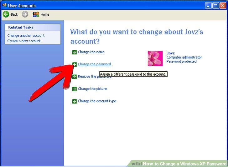 تغییر پسورد ویندوز